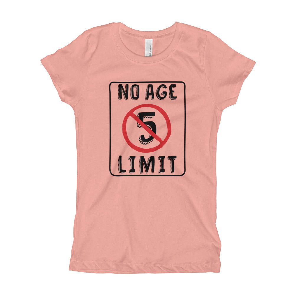 No Age Limit - 5th Birthday T-Shirt For Girls