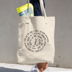 2 Year Of Marriage Couple Tote Bag - 2nd Wedding Anniversary Spiral Design For Lovers