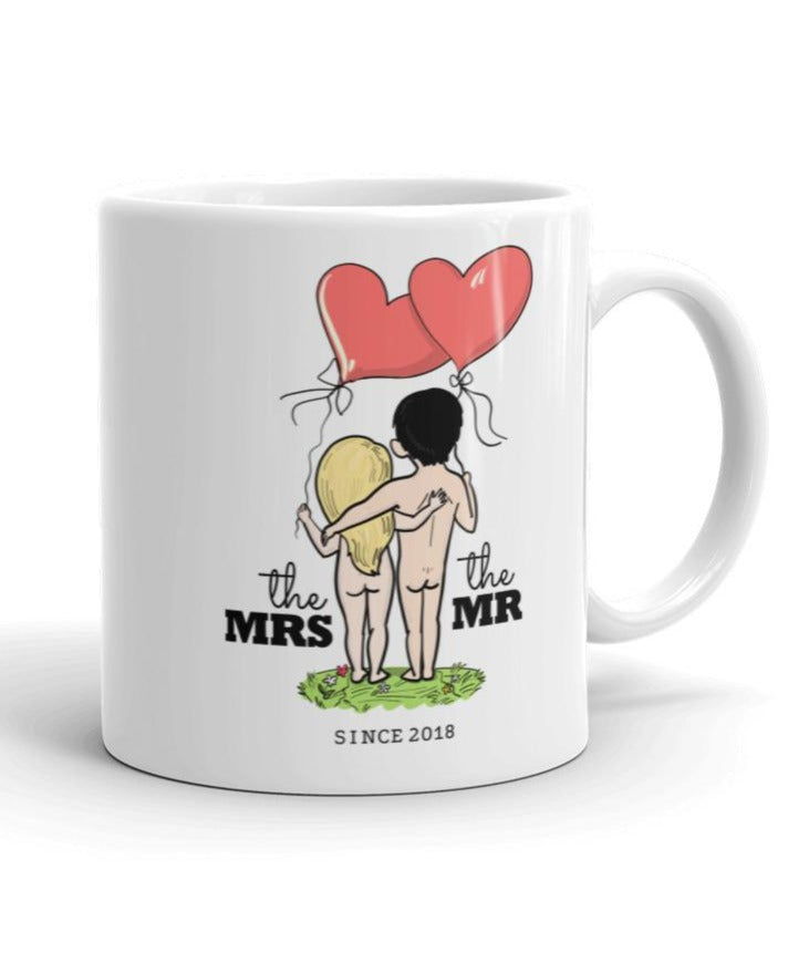 Mr and Mrs since 2018 - Wedding Anniversary Gift Idea - white Mug