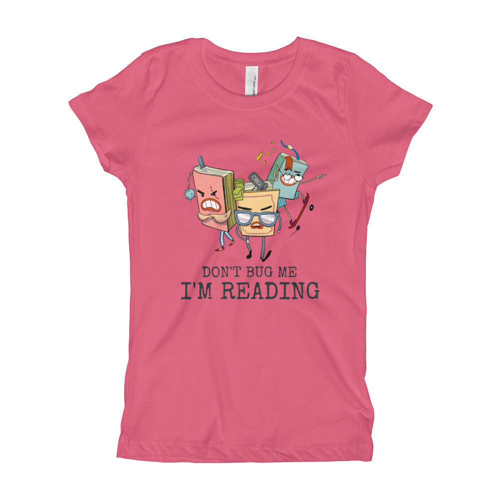 Don't Bug Me I'm Reading - Adorable Book Lover Gift Tee For Girls - Gift Ideas - Familymily.com