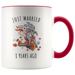 Just Married 8 Years Ago - 8th Wedding Anniversary Gift Accent Mug