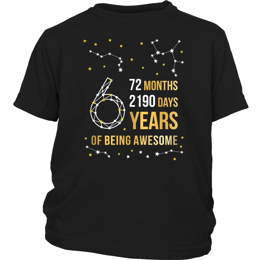 6th Birthday Kids Tee - Countdown Design