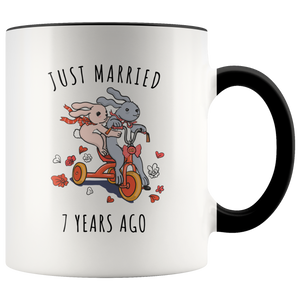 7th Wedding Anniversary.Just Married 7 Years Ago 7th Wedding Anniversary Gift