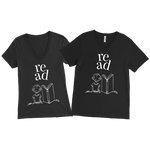 Book Lover t-shirts for Her and Him V-Neck