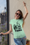 I eat anything Humorous tee shirt for sharks and asian food lover / PNG hi-resolution t-shirt design