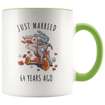 Just Married 64 Years Ago - 64th Wedding Anniversary Gift Accent Mug