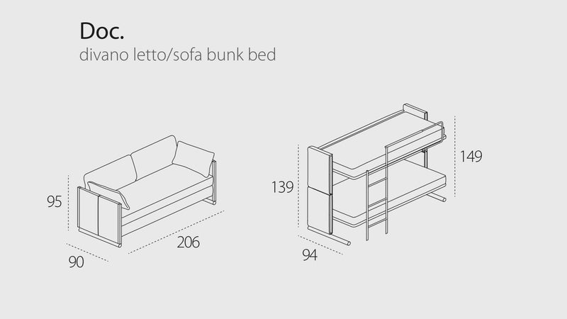 DOC sofa bunk bed - Bonbon Compact Living