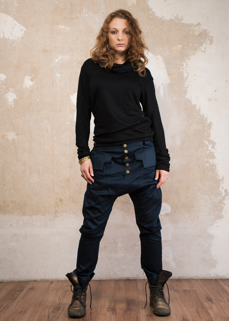 YÖ - Elegant drop crotch harem pants with unique cut - Unisex
