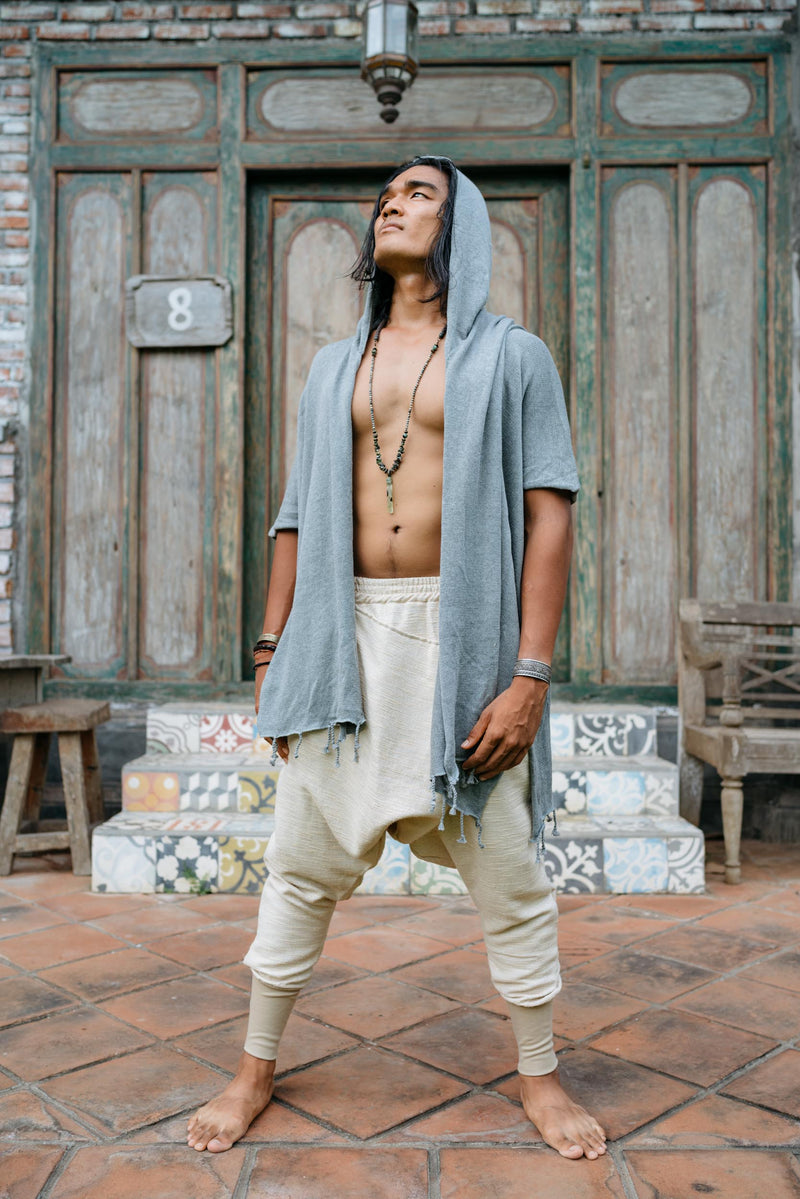 URBAN NINJA Golden Cream - Elegant linen harem pants