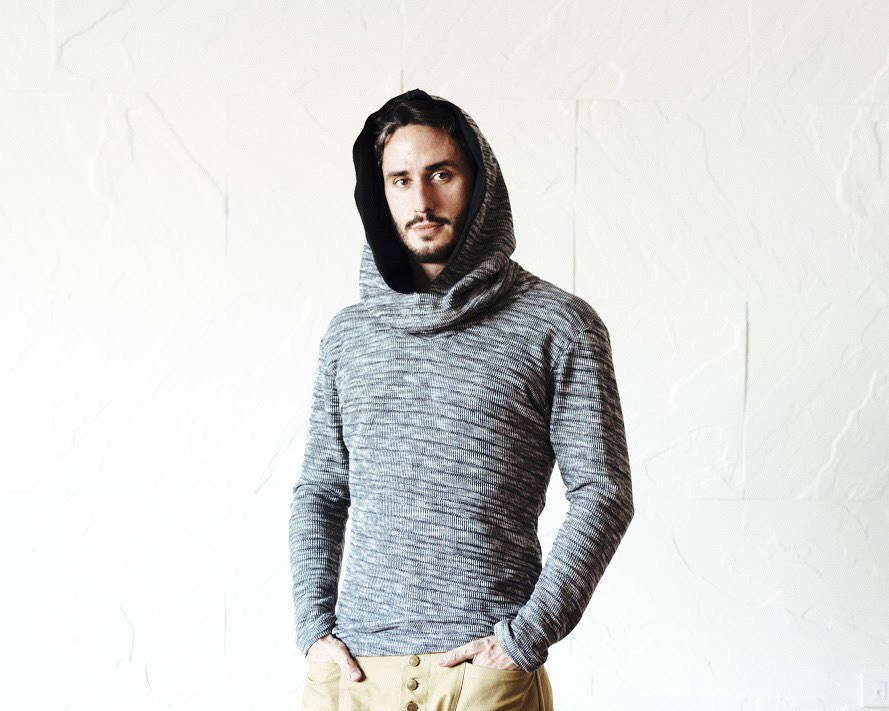Grey Cowl neck Jedi hoodie / warm fall hoodie / knitted hoodie / slim fit cowl neck hoodie / slim fit big hood jedi hoodie men and women