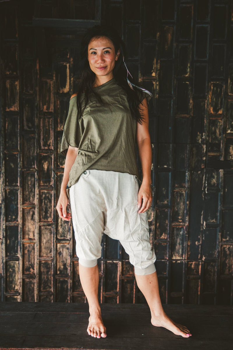 Linen Drop Crotch Capri shorts, Summer Harem Shorts, Linen shorts, Nomad Clothing, Bedouin Harem Shorts, Playa, Perfect summer shorts, Beach