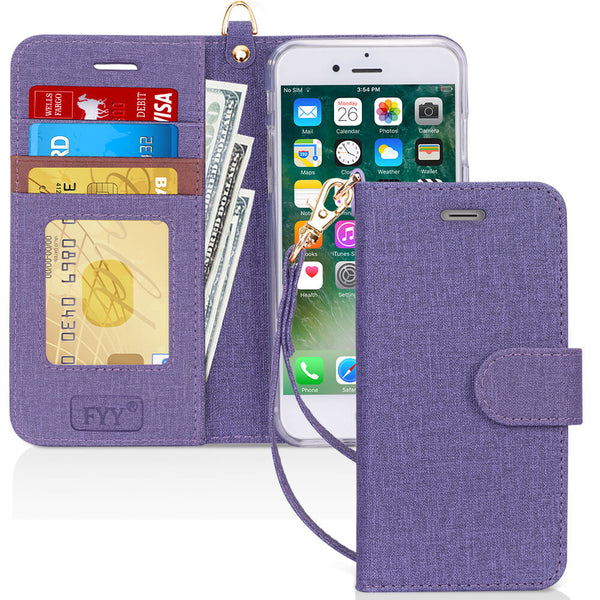 Flip Folio Canvas Wallet Case for iPhone 8/7 Plus
