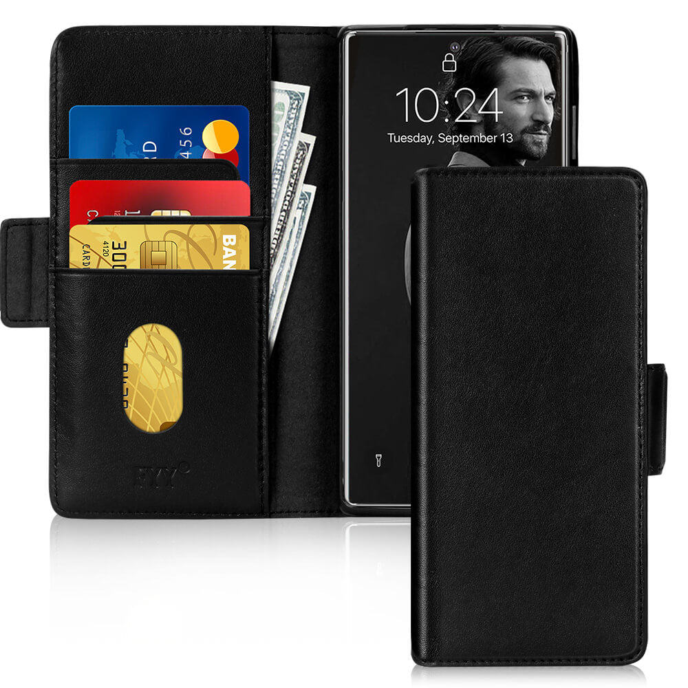 Genuine Leather Wallet Case for Samsung Galaxy Note 20 6.7""