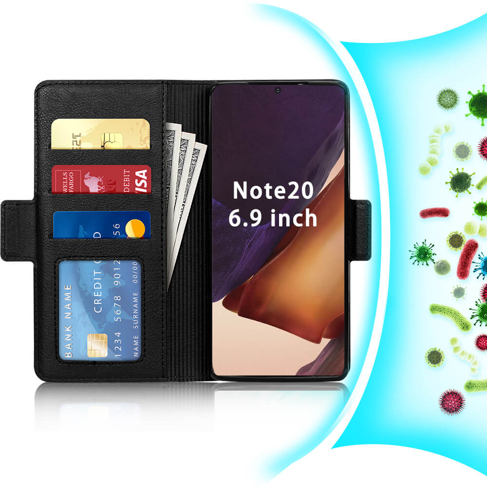 Antibacterial Wallet Case for Galaxy Note 20 Ultra 6.9""