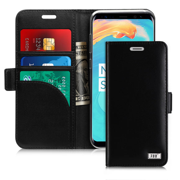 FYY Galaxy S8 Plus Case,[RFID Blocking wallet] Premium Genuine Leather 100% Handmade Wallet Case Credit Card Protector for Samsung Galaxy S8 Plus