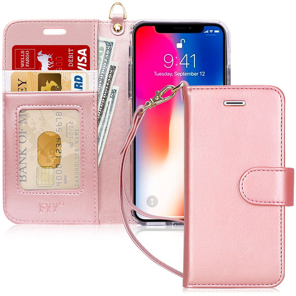 "PU Leather Wallet Case for iPhone Xs (5.8"") 2018/iPhone X/10 2017"