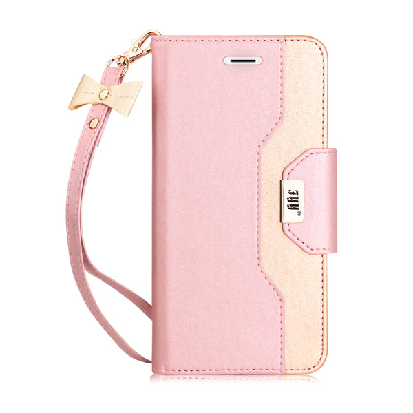 3 FYY iPhone 6S Plus Case, iPhone 6 Plus Case, Premium PU Leather Wallet Case with Cosmetic Mirror and Bow-knot Strap for iPhone 6S Plus/6 Plus
