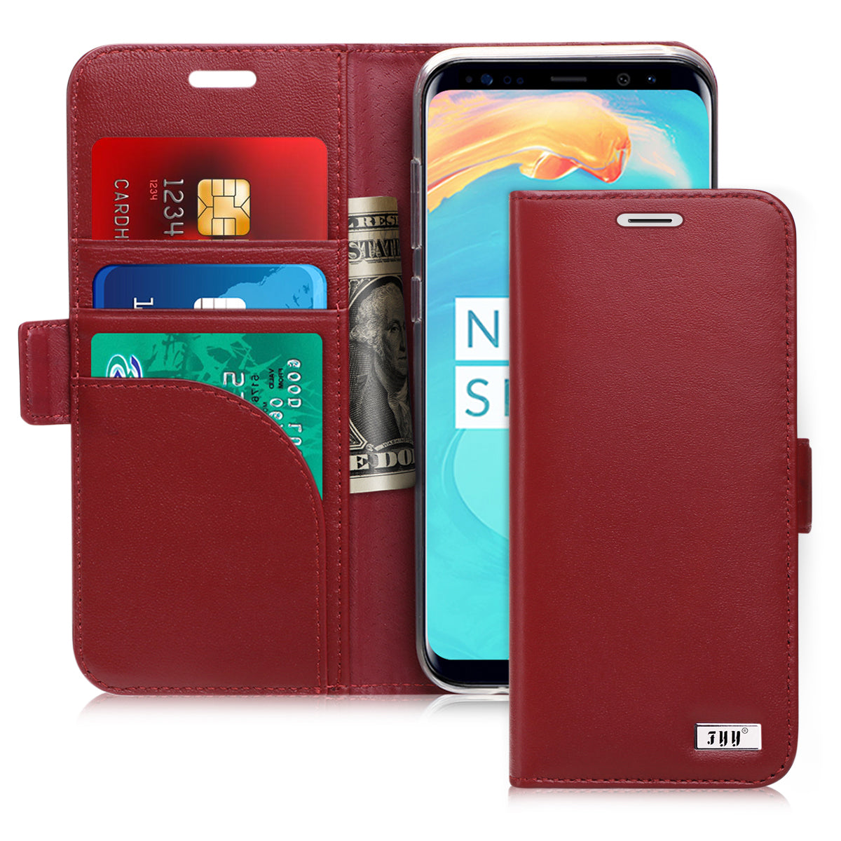 Genuine Leather Wallet Case for Galaxy S8 | fyystore