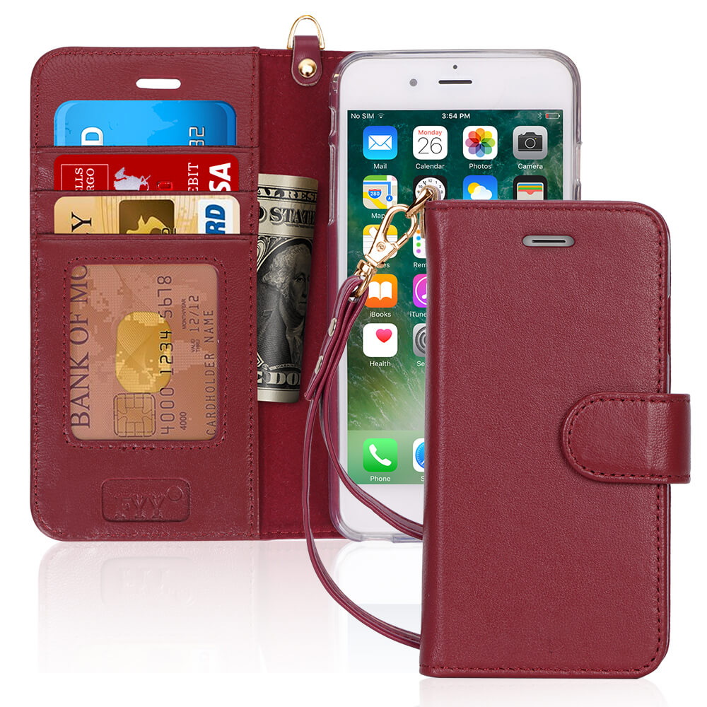 Genuine Leather Wallet Case for iPhone 6/6S Plus