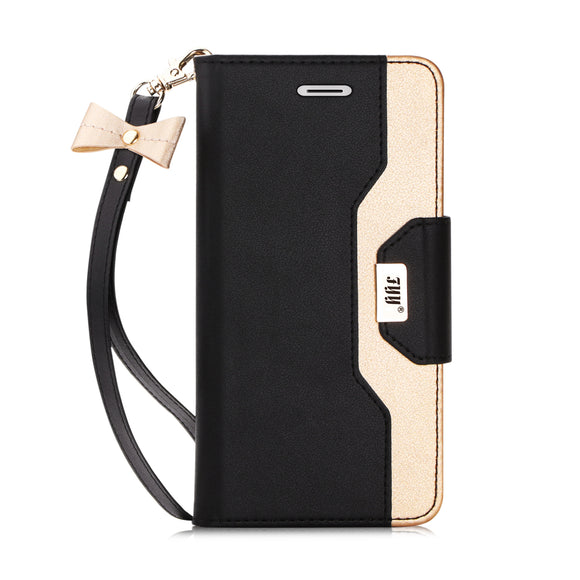 3 FYY iPhone 6S Case, iPhone 6 Case, Premium PU Leather Wallet Case with Cosmetic Mirror and Bow-knot Strap for Apple iPhone 6/6S