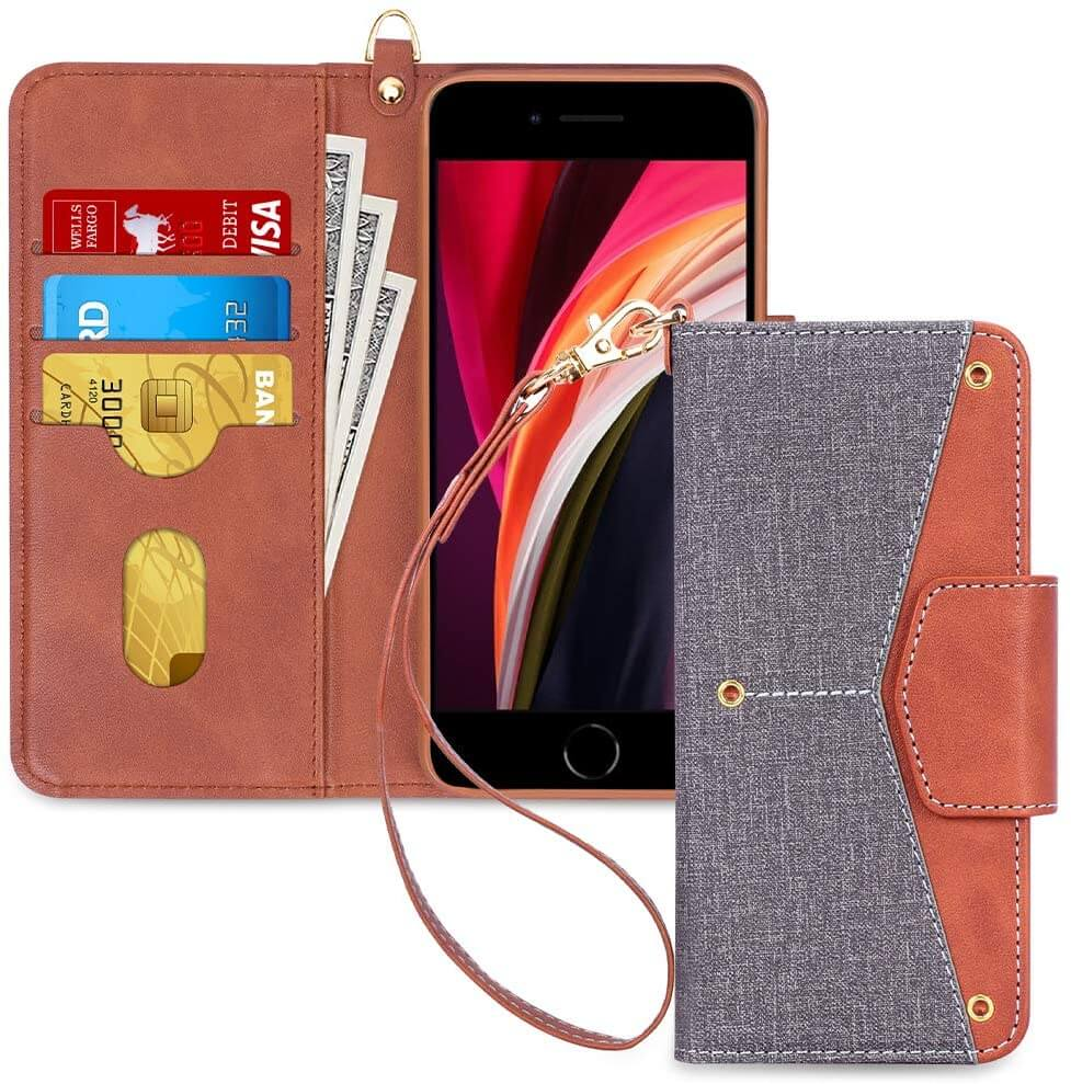Folio Flip Wallet Case Cover for iPhone SE 2020 /iPhone 7/8 4.7''