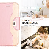 3 FYY iPhone 8 Case, iPhone 7 Case, [RFID Blocking wallet] [Makeup Mirror] Premium PU Leather iPhone 7/8 Wallet Case with Cosmetic Mirror and Bow-knot Strap