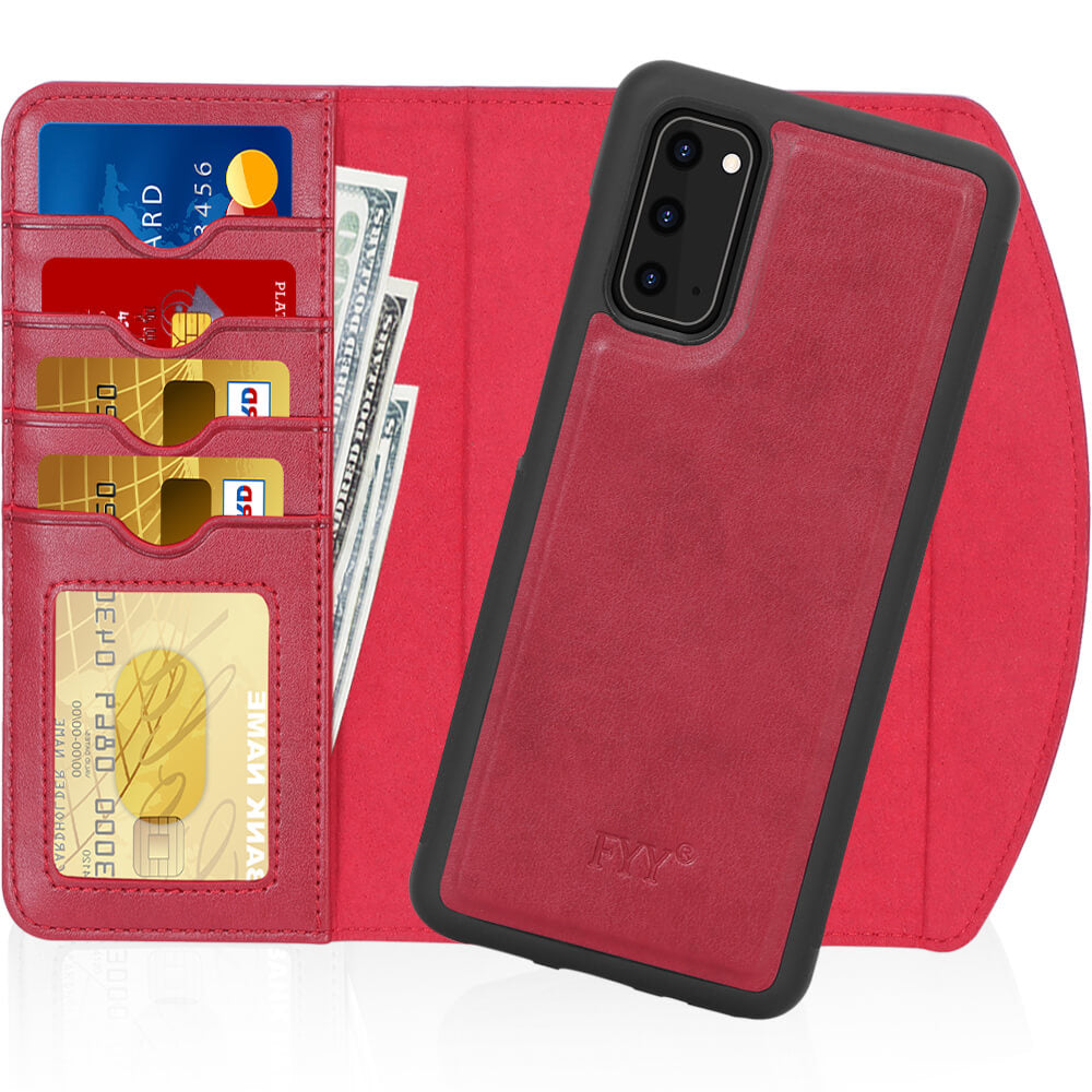 Magnetic Detachable Wallet Case for Galaxy S20 6.2""