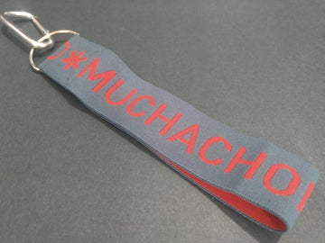 MUCHACHOMALO KEYCHAIN - GREY AND RED