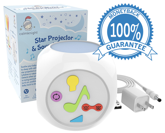 Calm Knight Star Projector Sound Machine With Cry Detection