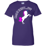 Was it Fluffy..? Unicorn Fitted T-Shirt