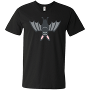 Upside Down Bat Emoji Men's V-Neck T-Shirt