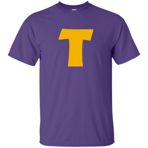 Token's Purple 'T' Kids Cotton T-Shirt