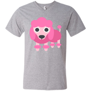 Poodle Emoji Men's V-Neck T-Shirt