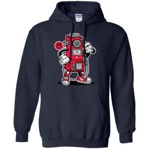 Retro Telephone Cartoon Hoodie