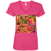 You Know Why It Was Outta Respect Ladies' V-Neck T-Shirt