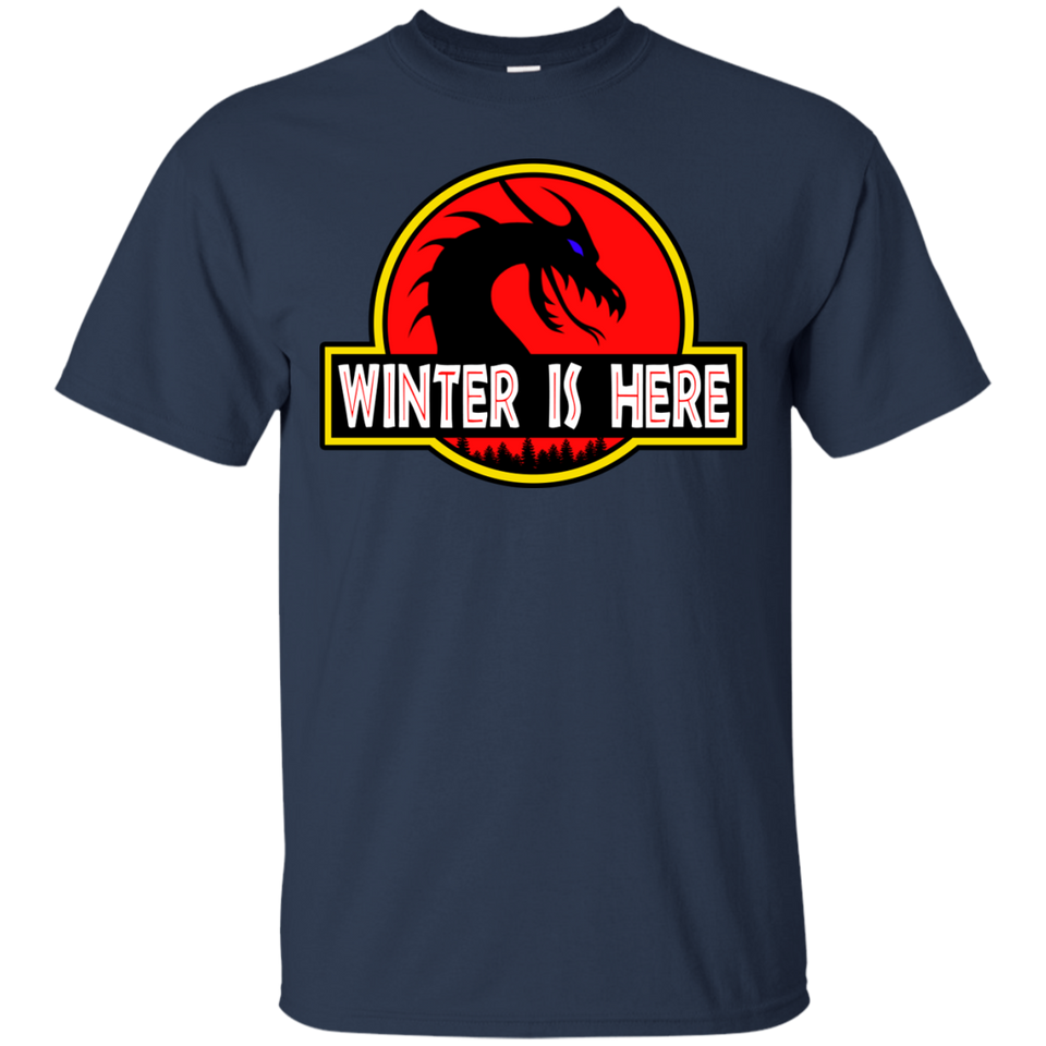 Winter is Here! Dracarys Mother of Dragons Park Jurassic Parody T-Shirt