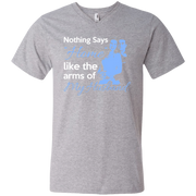 Nothing Says Home Like the Arms of my Husband  Men's V-Neck T-Shirt