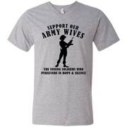 Support Our Army Wives Men's V-Neck T-Shirt