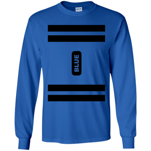 Blue Crayon Costume Long Sleeve T-Shirt