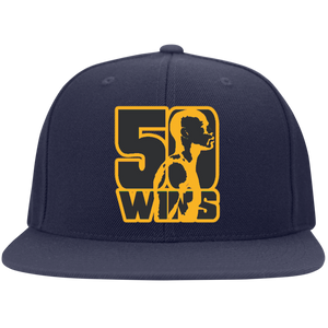 50 Wins Money Mayweather the Legend Flat Bill Twill Flexfit Cap