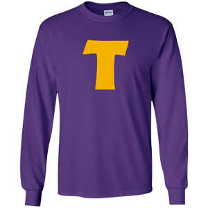 Token's Purple 'T' Long Sleeve T-Shirt
