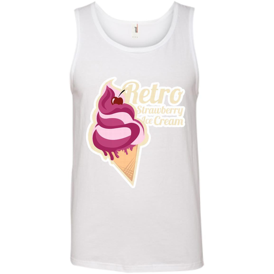 Retro Strawberry Ice Cream Month Tank Top