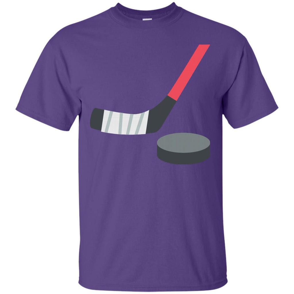 Ice Hockey and Puck Emoji T-Shirt