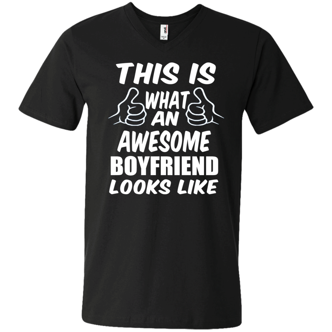 This is What an Awesome Boyfriend Looks Like  Men's V-Neck T-Shirt