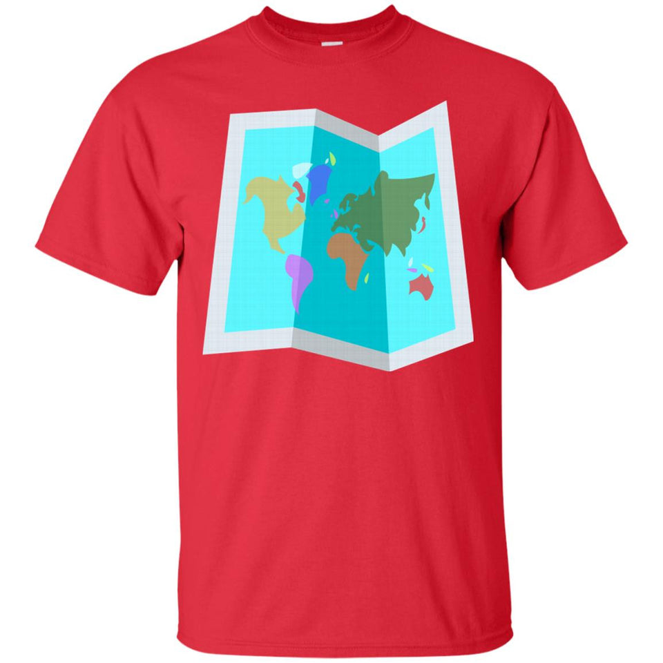 Emoji Map World Traveller T-Shirt
