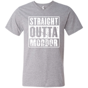 Straight Outta Mordor Men's Printed V-Neck T-Shirt