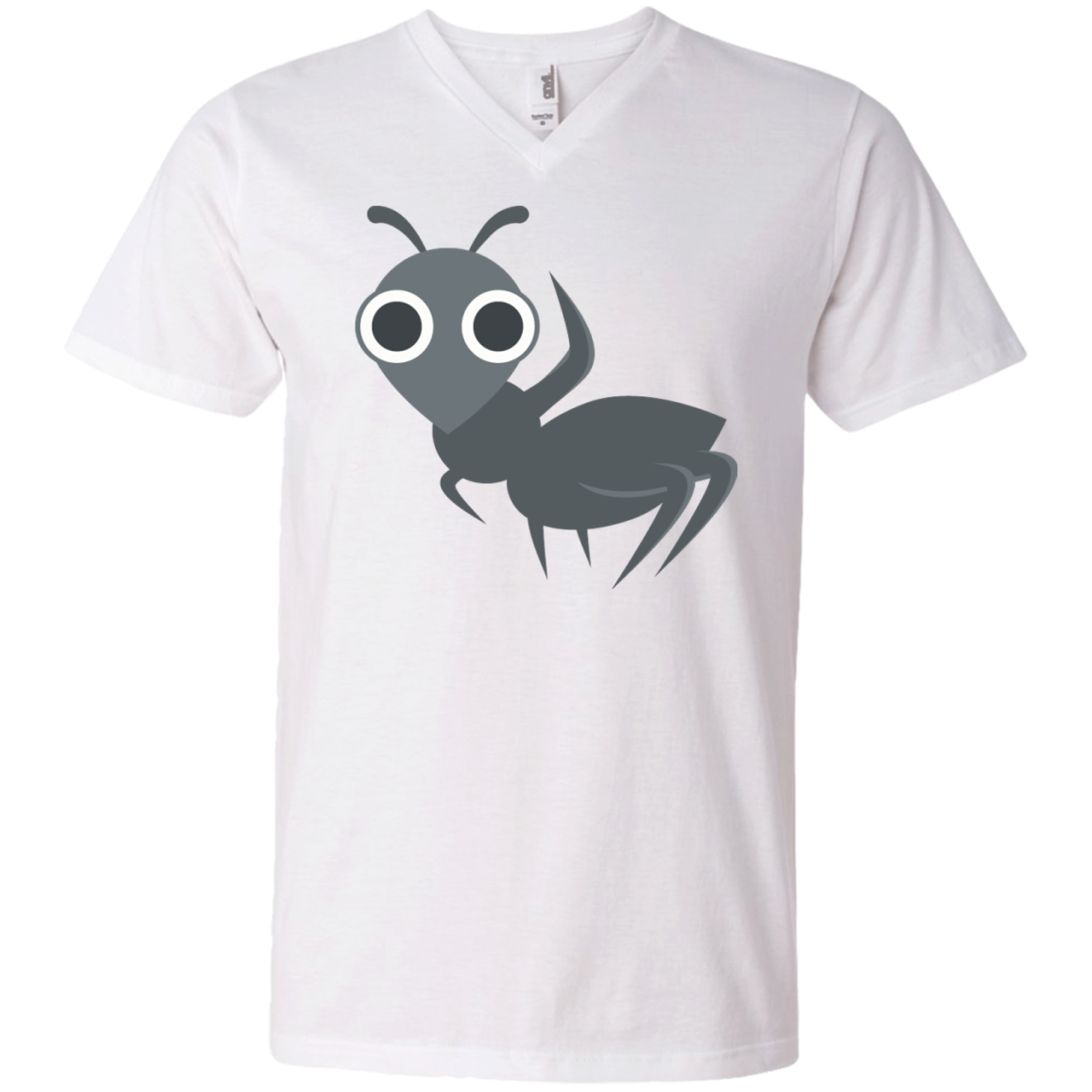 Waving Ant Emoji Men's V-Neck T-Shirt