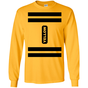 Yellow Crayon Costume Long Sleeve T-Shirt