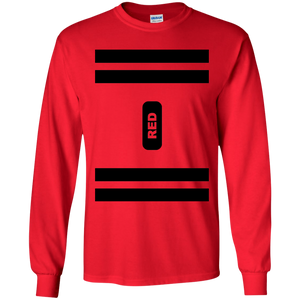 Red Crayon Costume Long Sleeve T-Shirt