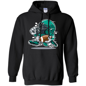 Funny Football Fan Cartoon Helmet Hoodie